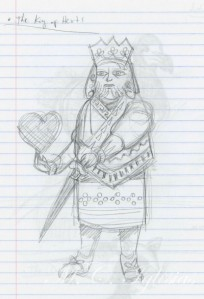 Alice-sketch-king of hearts